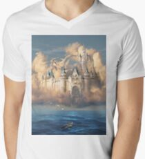 Castle in the Sky or Clouds of Shattered Dreams Men's V-Neck T-Shirt