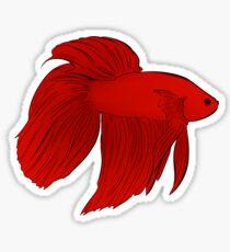 Veil Tail Betta Fish Sticker Sticker
