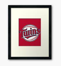 Minnesota Twins Baseball MLB Framed Print