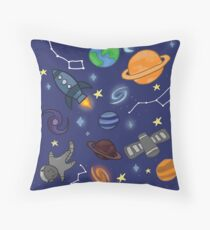 I love SPACE Throw Pillow