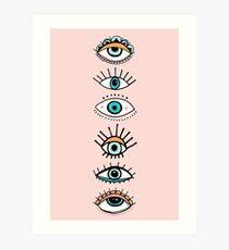 Auge sieht dich Kunstdruck