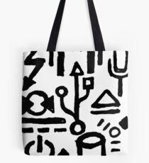 Digital Hieroglyphs Tote Bag