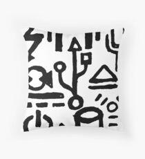 Digital Hieroglyphs Throw Pillow