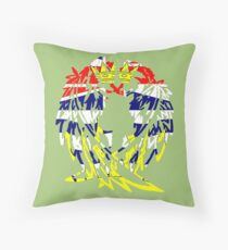BRITISH COLUMBIA WOLF LOVE Throw Pillow