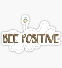 Bee Positive Sticker