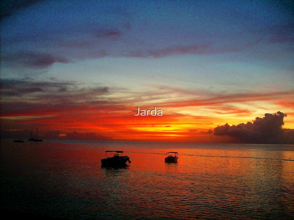 Caribbean Sunset by Jarda