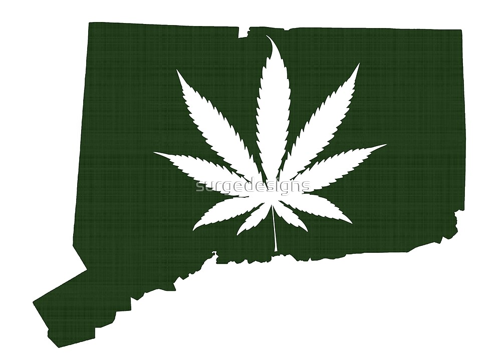Marijuana Leaf Connecticut by surgedesigns