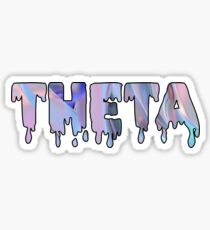 Theta Dripping Holo Sticker
