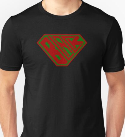 Black SuperEmpowered (Red and Green) T-Shirt