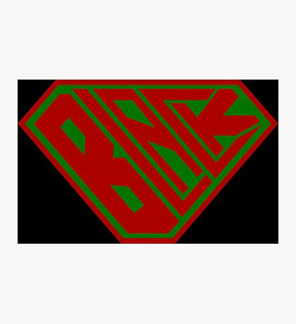 Black SuperEmpowered (Red and Green) Photographic Print