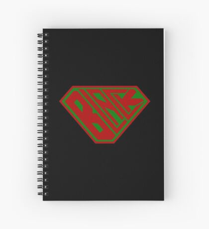 Black SuperEmpowered (Red and Green) Spiral Notebook