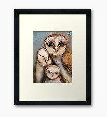 three wise owls Framed Print