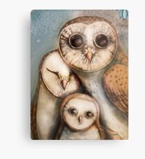 three wise owls Metal Print