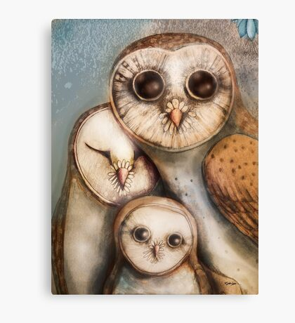 three wise owls Canvas Print