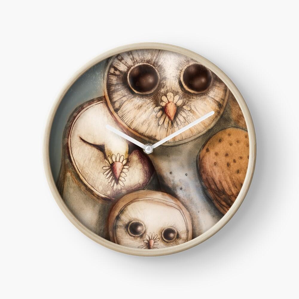 three wise owls Clock