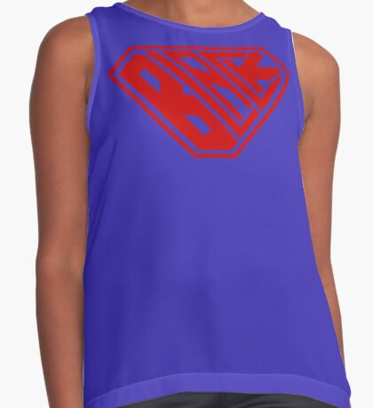 Black SuperEmpowered (Red) Contrast Tank