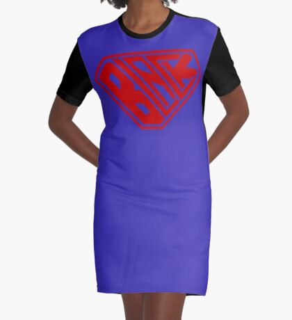 Black SuperEmpowered (Red) Graphic T-Shirt Dress