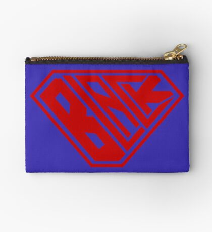 Black SuperEmpowered (Red) Zipper Pouch