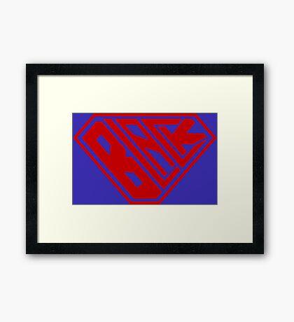 Black SuperEmpowered (Red) Framed Art Print