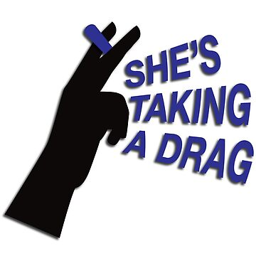 Mr. Brightside - she's taking a drag - sticker by mimeomia