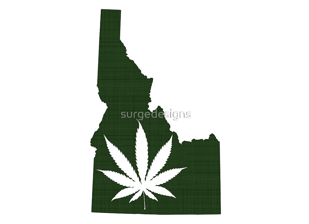 Marijuana Leaf Idaho by surgedesigns