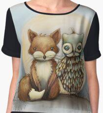 fox and owl Chiffon Top
