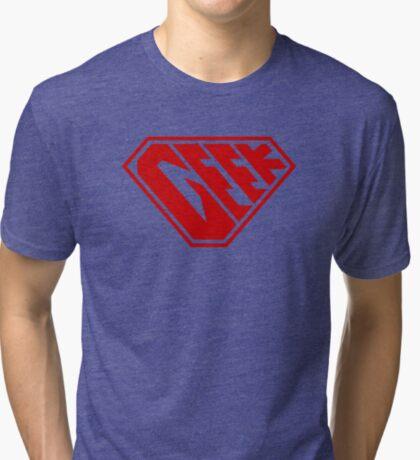 Geek SuperEmpowered (Red) Tri-blend T-Shirt