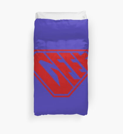 Geek SuperEmpowered (Red) Duvet Cover