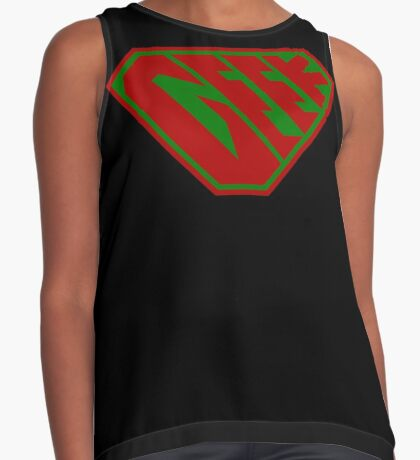 Geek SuperEmpowered (Red and Green) Contrast Tank