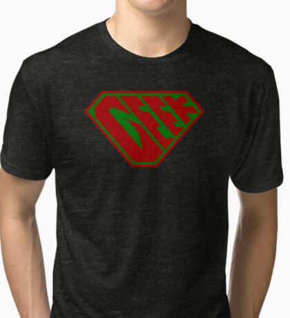 Geek SuperEmpowered (Red and Green) Tri-blend T-Shirt