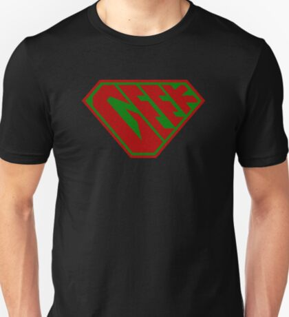 Geek SuperEmpowered (Red and Green) T-Shirt