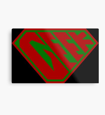 Geek SuperEmpowered (Red and Green) Metal Print
