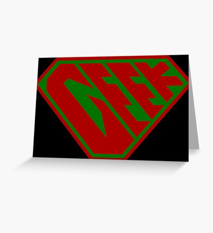 Geek SuperEmpowered (Red and Green) Greeting Card