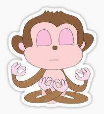 Meditating Monkey  Sticker
