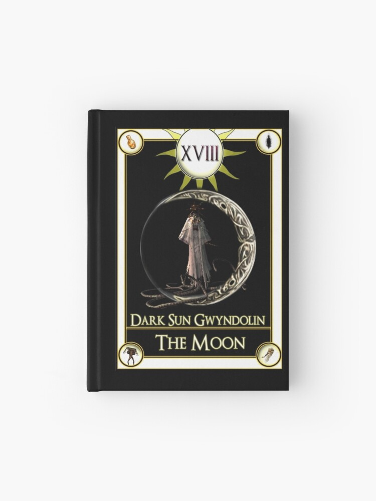 Dark Sun Gwyndolin The Moon Tarot Card | Hardcover Journal