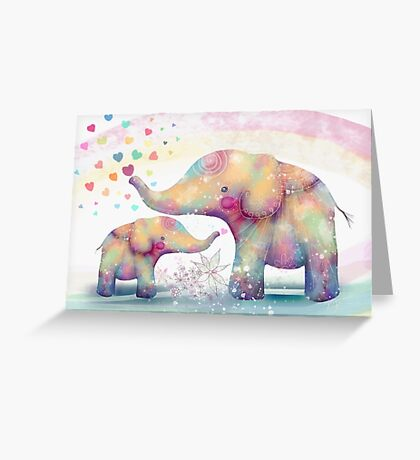 elephant affection Greeting Card
