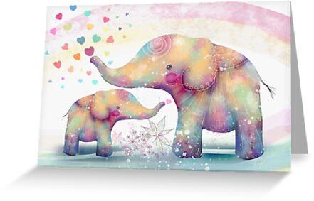 Elefanten-Zuneigung von Karin Taylor