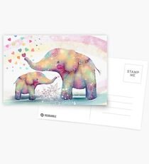elephant affection Postcards