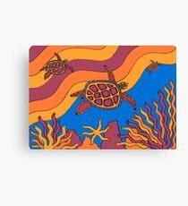 Goorlil - (turtle) barrgan season (winter) Canvas Print
