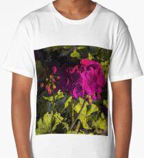Geranium Floral Art Long T-Shirt