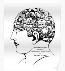 Phrenology - The Symbolical Head Poster