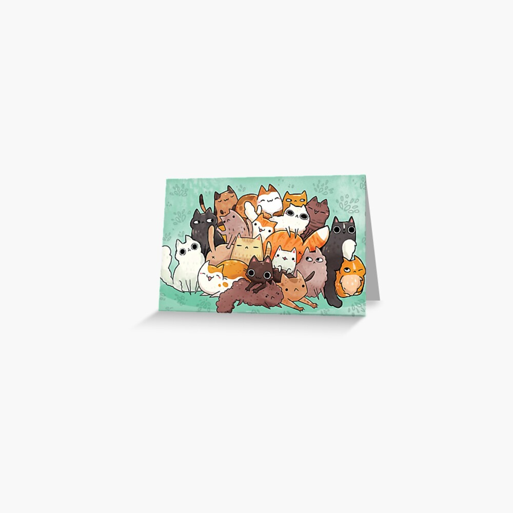 Pile o cat  Greeting Card