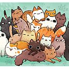 Pile o cat  by michelledraws