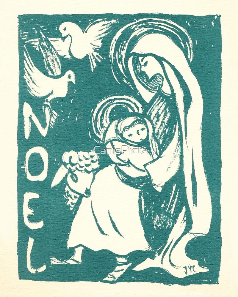 Image De Noel Jesus.Noel Mary Jesus Christmas Blue Teal Vintage Card