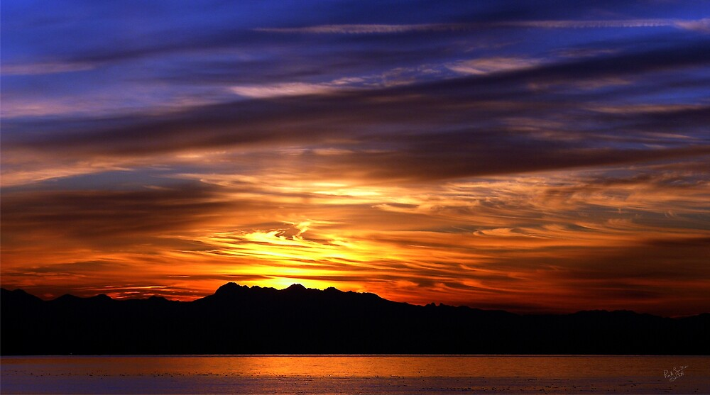 Olympic Sunset Nine by Rick Lawler
