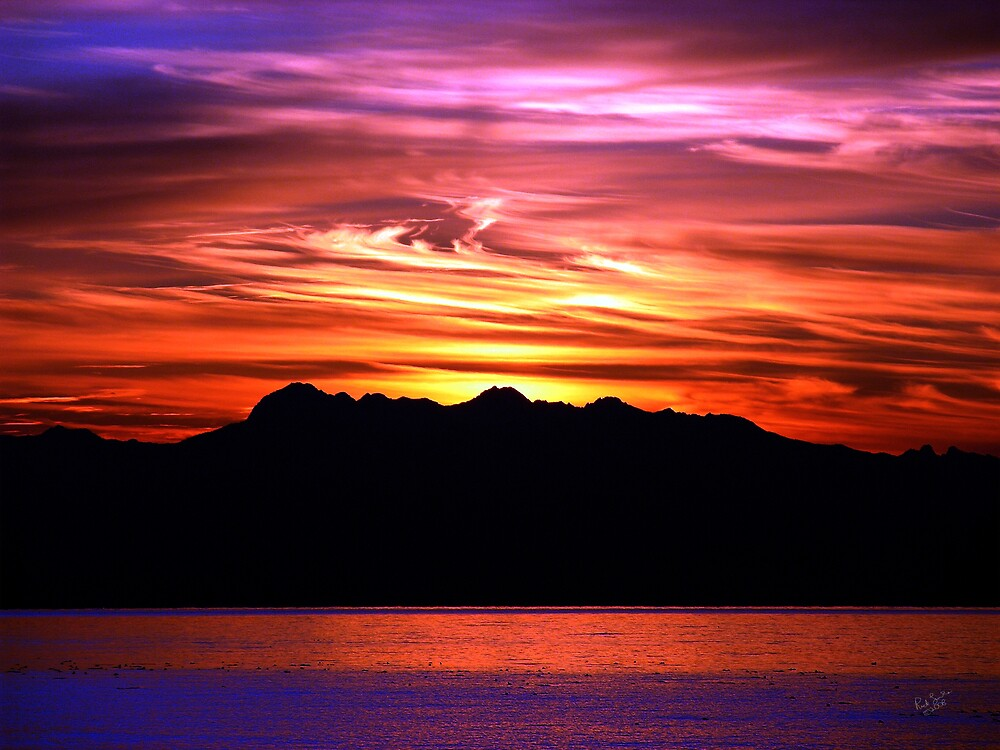 Olympic Sunset Ten by Rick Lawler
