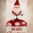 Santa Claus on fungus greeting card by jordygraph