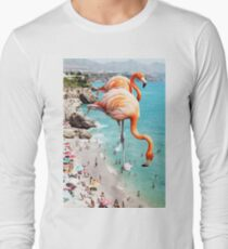 Flamingos am Strand #redbubble #decor Langarmshirt