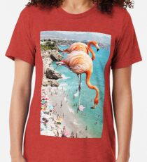 Flamingos am Strand #redbubble #decor Vintage T-Shirt