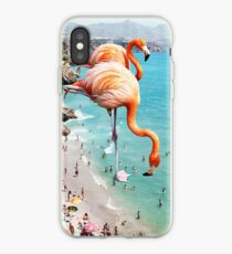 Flamingos on the Beach #redbubble #decor iPhone Case